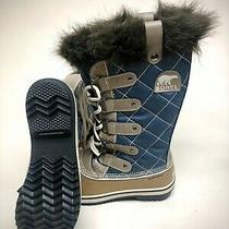 Waterproof Sorel Boots Women Size 6 New Great Condition Blue and Khaki. Photo