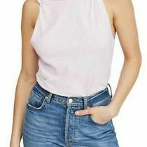 We the Free by Free People Womens Solid Side Knot Tie Tee Blush Lilac Size Xs Photo