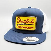 Weatherby Trucker Hat Vintage Gun Rifle Patch on Flatbill Snapback Baseball Cap Photo