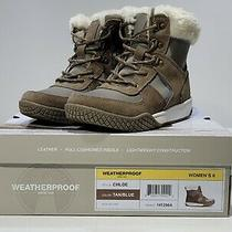 Weatherproof Women's Chloe Snow Outdoor Boots Tan Blue Size 6 Photo