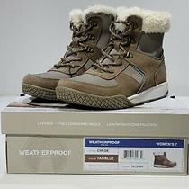 Weatherproof Women's Chloe Snow Outdoor Boots Tan Blue Size 7 Photo