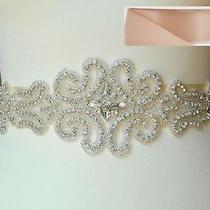 Wedding Belt Bridal Sash Belt -Clear Crystal Sash Belt 18 1/2