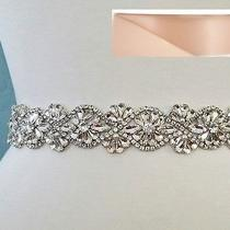 Wedding Belt Bridal Sash Belt- Crystal Pearl Sash Belt  19