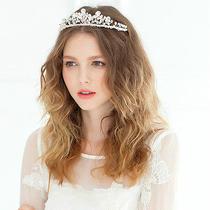 Wedding Bridal Crystal Swarovski Silver Headband Hair Accessories Tiara Jewelry Photo