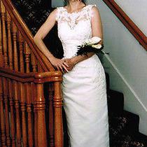 Wedding Dress Gloria Vanderbilt  Size 4 Photo