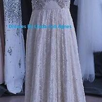 Wedding Dress Lace and Beading Anna Campbell Replica Photo