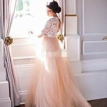 Wedding Dresses 2016 Custom Made Vintage Bridal Gowns Latest Long Sleeve Blush Photo