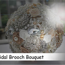 Wedding Flower Bridal Brooch Bouquet Use Swarovski Element Made Free Shipping 3 Photo