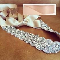 Wedding Sash Belt Bridal Sash Belt- Crystal Sash Belt  19