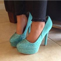 Wedding Shoes Tiffany Blue Swavorski Crystals Handmade Photo