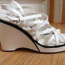 Wedge Sandals by Steve Madden Size 7.5 Color White Photo