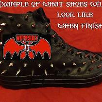 Wednesday 13 Metal Punk Rock Custom Studded Converse Shirt Sneakers Shoes Spikes Photo
