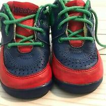 Weebok by Reebok Kids Lace Up Baby Sneaker Size 4w Red Green Blue Colorblock Photo