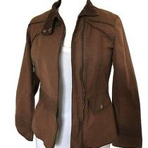 Welligogs Roxy Brown Fitted Wax Coat/jacket  Size Uk 10 Very Good Condition Photo