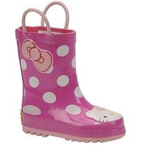Western Chief Girls' Hello Kitty Cutie Rainboot (Toddler-Youth) Size 2m Photo