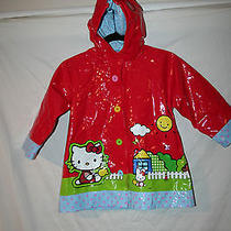 Western Chief Girls Hello Kitty Red Raincoat Size 4/5 Photo
