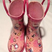 Western Chief Hello Kitty Rain Boots Size Toddler 6 Girls Euc Make an Offer Photo