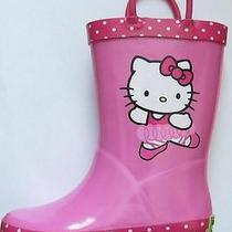 Western Chief Kids Size 5/6 Hello Kitty Girl's Ballerina Rain Boots Pink Photo
