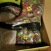 Western Chief Woman Boots Sz 10 Multicolor Rain Fantasy Shoes Dot Trot Photo