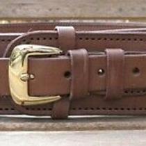 Western Express Brown Genuine Leather .38 /357 Caliber Cartridge Gun Belt (38