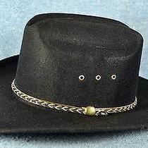 Western Express Cowbay Hat Black Straw Charleston 7-1/8