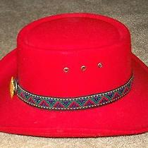 Western Express Hat Red Size 6 7/8 Photo