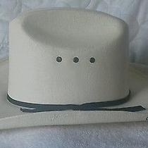 Western Express Inc Beige Cowboy Painted Stiff Straw Hat 6 3/4 Made in Mexico Photo