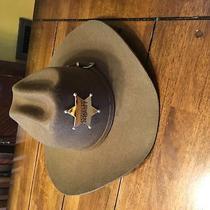 Western Express Inc Chocolate Brown Cowboy (Sheriff ) Hat Size 7 3/4 (Xl) Photo