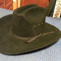 Western Express Inc. Feltblack Cowboy Hatwith Black Ribbon Hat Band Size 6 3/4 Photo
