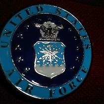 Western Express United States Air Force Military Belt Buckle Enamel 2.75x2.75  Photo