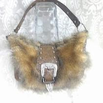 Western Style Purse Handbag With Fur and Rhinestones  Wild and Fun  Photo