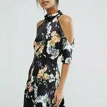 Whistles Aiko Print Josephine Cold Shoulder Dress Size 6 Photo