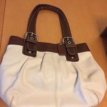 White and Brown Coach Handbag Photo
