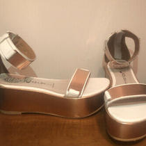 White and Rose Gold Jeffrey Campbell Platform Sandals Photo