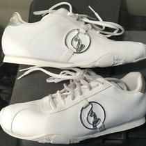 White Baby Phat Women's Size 8 Athletic Shoe Includes Leopard Shoe Bag Photo