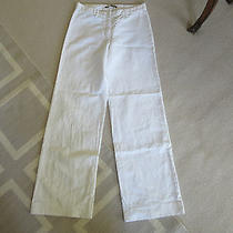 White Balenciaga Wide Leg Trousers Photo