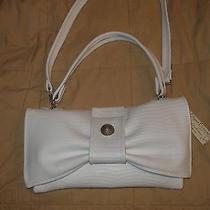 White Beverly's Elegant Elements Leather Designer Handbag Purse Ladies New Photo