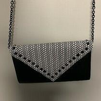White Black Aldo Studded Clutch Bag Handbag Chain. Photo