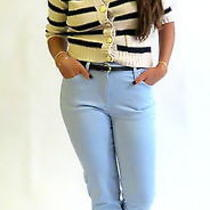 White & Blue Stripe Cardigan Photo