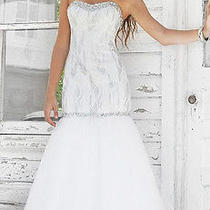 White Blush Prom Fitted Mermaid Gown Size 6 Pageant Prom Gown  Photo