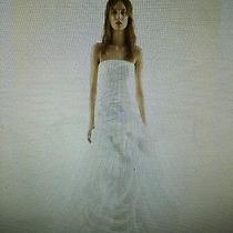 White by Vera Wang Organza Trumpet Wedding Dress Photo