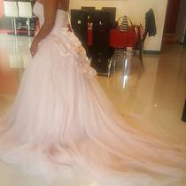 White by Vera Wang Pink Blush With Tags Wedding Dress Large 12 Photo