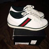 White Canvas Gucci Sneaker Photo