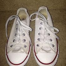 White Childrens Converse Size 1 Tennis Shoes Photo