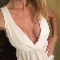 White Chloe Tank Top Size Small Fun and Flirty Photo