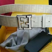 White College Zucca Ff Men's Belt 95 Cm Photo
