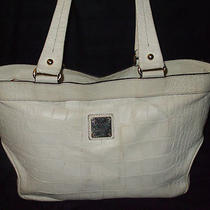 White Croc Dooney & Bourke Tote With Red Lining Photo