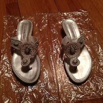 White Designer Sandals Photo