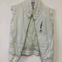 White Diesel Down Vest With Embroidery  Photo