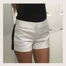 White Express Shorts With Black Stripe Size 4 Photo